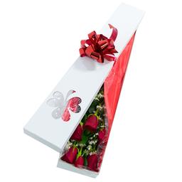 Caja Bogotá Con Rosas 12 U