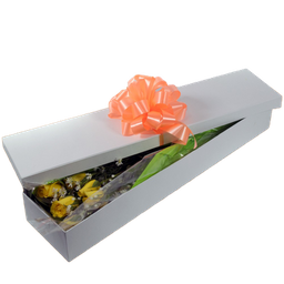 Caja Con Rosas Amarillas 12 U