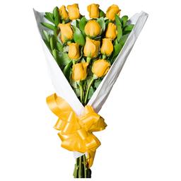 Ramo Con Rosas Amarillas 12 U