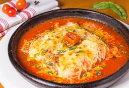 Canelones de Ossobuco Salsa Napolitana