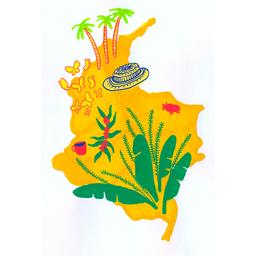 Cuadro Mapa Colombiano 1 U