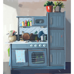 Cuadro Cocina Azul 1 U