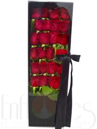 Rosas en estuche de lujo