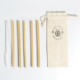 Kit de Pitillos en Bambu organico con funda de tela