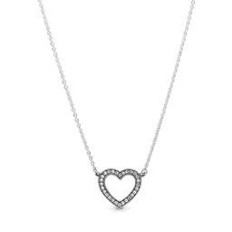 Collar Corazón Abierto Resplandeciente 45 cm