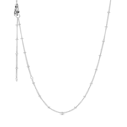 Collar Pandora Gotas en Plata Ajustable 70 cm