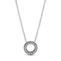 Collar de Plata Pandora Signature Con Colgante 45 cm