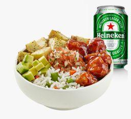 Combo Bowl BBQ y Heineken