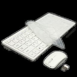 Combo Mini Teclado y Mouse Inalambrico Tipo Mac Elegante 1 U