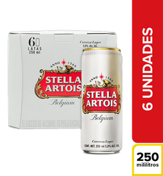 Cerveza Stella Artois - Lata 250Ml X6