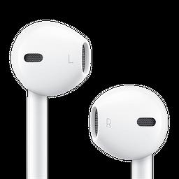 Audífonos minimalistas con micrófono Blanco