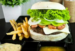 hamburguesa con Chorizo