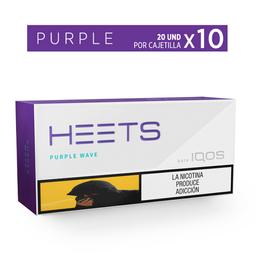 Cigarrillos Purple - Heets - Display X10 Cajetillas 20 Und