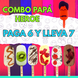Combo Papá Heroe 6x7