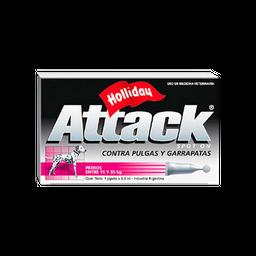 Tratamiento Attack Antipulgas y Garrapatas Hasta 5 Kg 3.5 mL