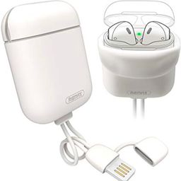 Cable Remax Rc-A6 Lightning+Silicon Airpods Blanco