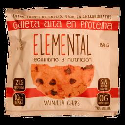 Galleta Proteina Vainilla Chips 80 G