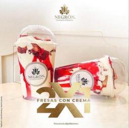 Fresas con Crema X2 Tradicional