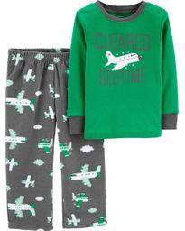 Pijama avión Verde