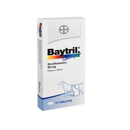 Baytril 50 Mg Caja X 10 Tabletas