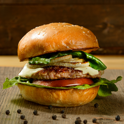 Clásica CerdoI Burger Sencilla