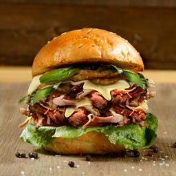 Doble Pulled Pork I Burger BBQ