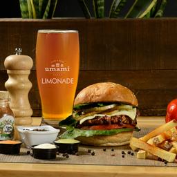 Combo hamburguesa + bebida o papitas