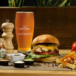 Combo hamburguesa vegetariana + bebida o papitas