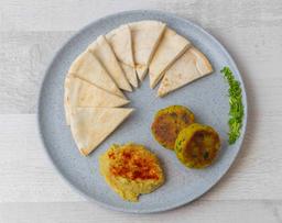 Falafel y humus