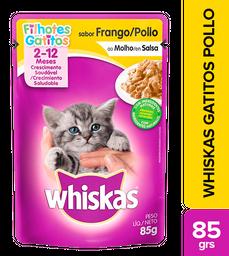 Whiskas Pouches Gatitos Pollo 85 Gr