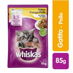 Whiskas Pouches Gatitos Pollo 85 Gr