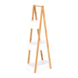 Repisa Bambu/Mdf 3 Bandejas H 81