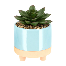 Maceta Ceramica Patas Cactus Artificial