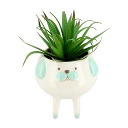 Maceta Animal Con Patas Y Cactus Artificial