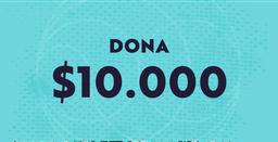 Dona $10.000