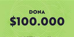 Dona $100.000