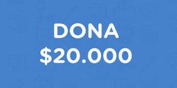 Dona $20.000
