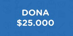 Dona $25.000