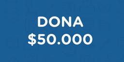 Dona $50.000