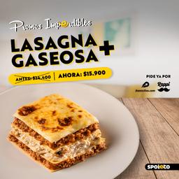 Combo Lasagna Pollo y Champiñones