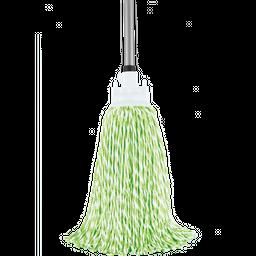 Trapero de Microfibra Blanco Verde 300 g Sin Mango 1 U
