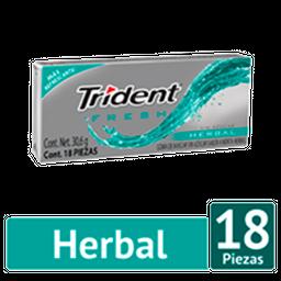 Goma De Mascar Trident Valu Pack Fresh Herbal