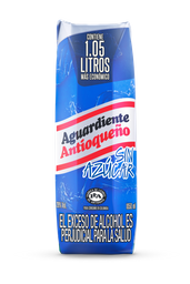 Aguardiente  Antioqueño  Sin Azucar  Tapa Azul Tetra 1050 Ml