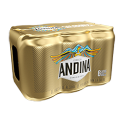 Andina Cerveza Six Pack - Cerveza Nacional 6 Latas