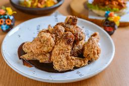Alitas de pollo soya y panela