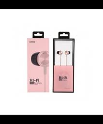 Audifonos De Cable Alta Fidelidad Rosa 1.2M