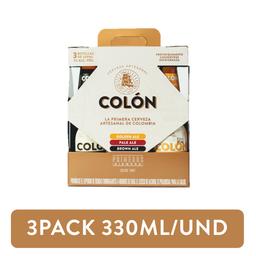 3Pack Surtido Cerveza Colón 330ml