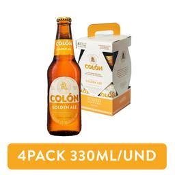 4Pack Cerveza Colón Golden Ale Rubia 330ml