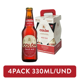 4Pack Cerveza Colón Pale Ale Roja 330ml