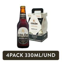 4Pack Cerveza Colón Brown Ale Negra 330ml